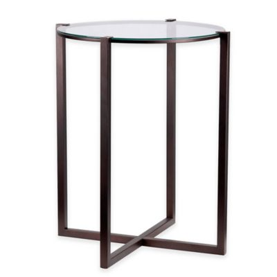 Kenroy Home Lodin Accent Table in Satin Bronze