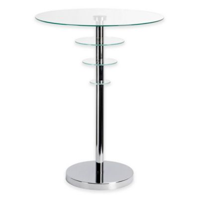 Kenroy Home Astro Accent Table in Chrome