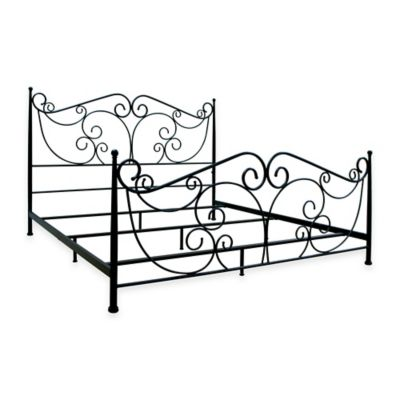 Bell'O® King Metal Bed Frame in Dark Bronze