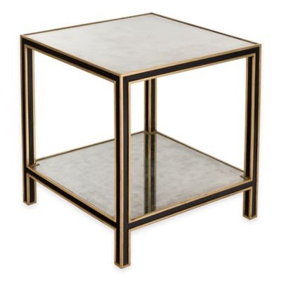 Safavieh Cambria End Table in Black/Gold