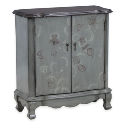 Bombay Floral 2-Door Console in Brown
