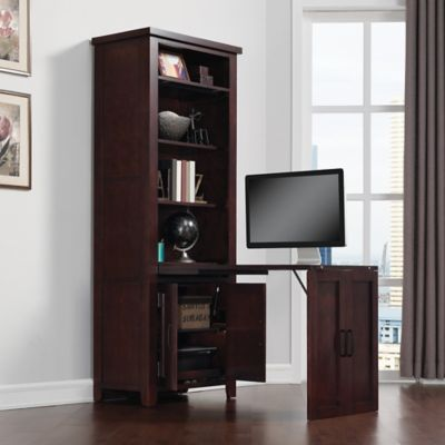 Bell'O Dakota Murphy Desk with Filing Cabinet in Roasted Walnut