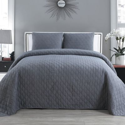 VCNY Marley 3-Piece King Bedspread Set in Khaki