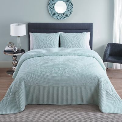 VCNY Hilltop 3-Piece King Bedspread Set in Blue