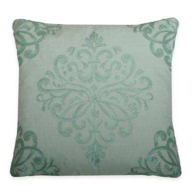 Thro Quinn Trellis Square Pillow in Teal