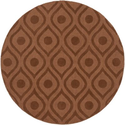 Artistic Weavers Central Park Zara 6-Foot Round Area Rug in Brown