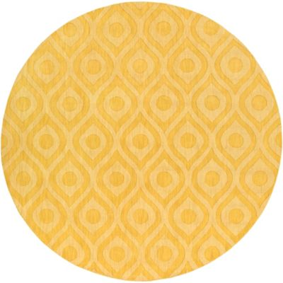 Artistic Weavers Central Park Zara 6-Foot Round Area Rug in Yellow