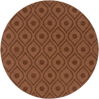 Artistic Weavers Central Park Zara 9-Foot 9-Inch Round Area Rug in Brown