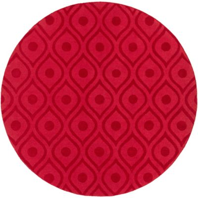Artistic Weavers Central Park Zara 9-Foot 9-Inch Round Area Rug in Red