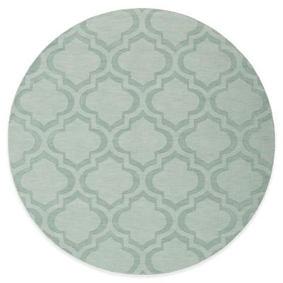 Artistic Weavers Central Park Kate 9-Foot Round Area Rug in Light Blue