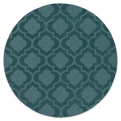 Artistic Weavers Central Park Kate 9-Foot 9-Inch Round Area Rug in Teal