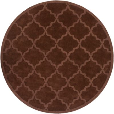 Artistic Weavers Central Park Abbey 6-Foot Round Area Rug in Brown