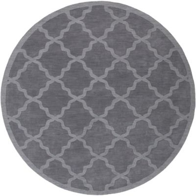 Artistic Weavers Central Park Abbey 9-Foot 9-Inch Round Area Rug in Charcoal Grey