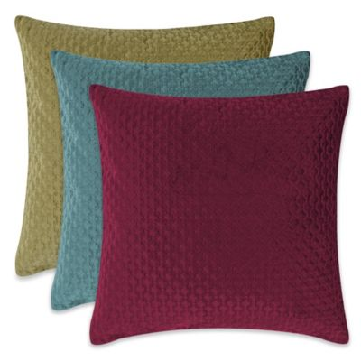 Nika 20-Inch Square Throw Pillow in White