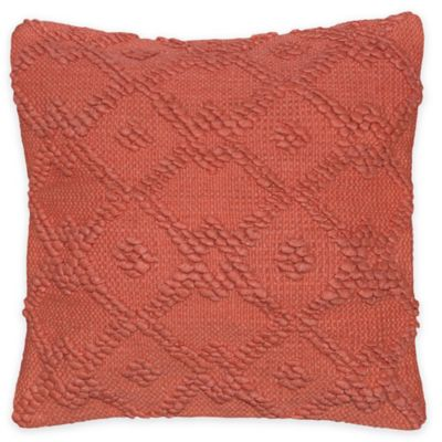 Pom Geo 3 Square Throw Pillow in Rust