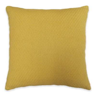 Abby Square Throw Pillow in Yellow