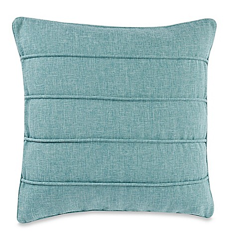 Pale Aqua Throw Pillow : Pampas Pale 20-Inch Square Throw Pillow in Turquoise - Bed Bath & Beyond
