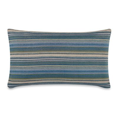 Cottage Stripe 24-Inch x 14-Inch Throw Pillow in Teal