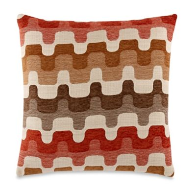 Dunderdale Coral 20-Inch x 20-Inch Throw Pillow
