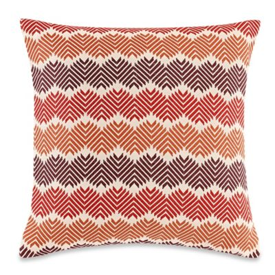 Electrostatic 20-Inch Square Throw Pillow in Rust