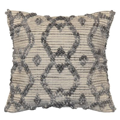 Diamond Ombre Square Toss Pillow in Grey