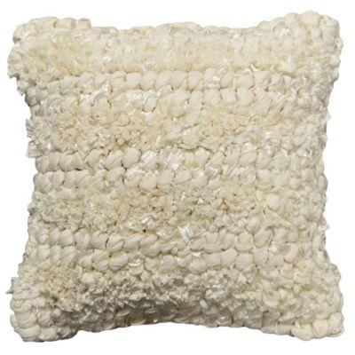 Jalendu Antique Square Throw Pillow in White