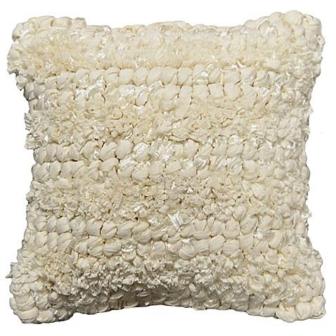 White Square Throw Pillows : Jalendu Antique Square Throw Pillow in White - Bed Bath & Beyond