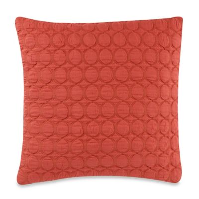 Ogee Quilt 20-Inch Square Throw Pillow in Coral
