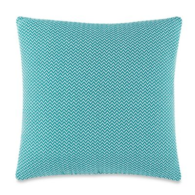 Zig Zag 20-Inch Square Throw Pillow in Teal