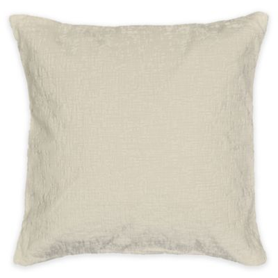 Metallic Chenille Square Throw Pillow in Natural