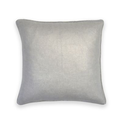Foil Linen Square Feather Fill Throw Pillow