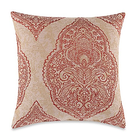 Burgess Red Square Throw Pillow - Bed Bath & Beyond
