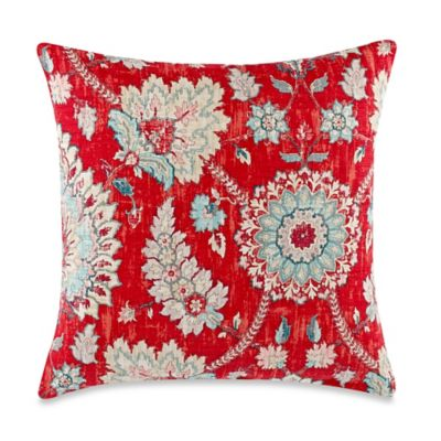Clifton Hall Opal Strawberry Square Throw Pillow