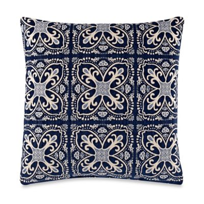Fortuna Blue 20-Inch Square Throw Pillow