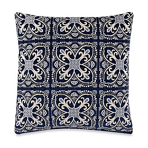 20 Inch Square Decorative Pillows : Buy Fortuna Blue 20-Inch Square Throw Pillow from Bed Bath & Beyond