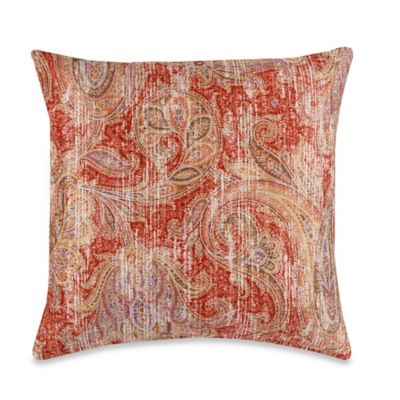 Glennifer Square Throw Pillow in Rust