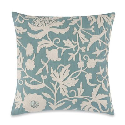Love Garden 20-Inch Square Throw Pillow in Light Blue