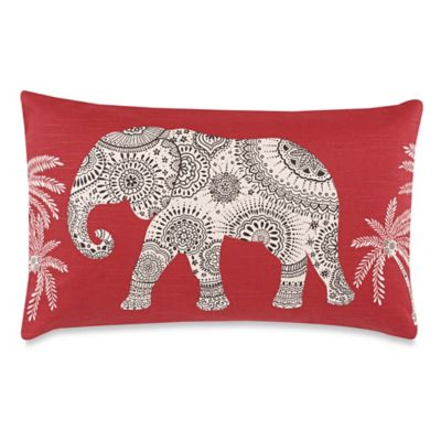 Ravi New Red 15-Inch x 24-Inch Throw Pillow