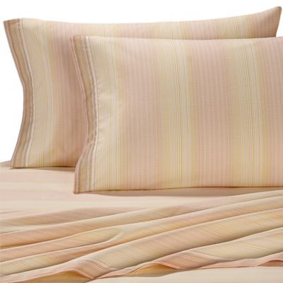 Tommy Bahama® Coastal Stripe California King Sheet Set in Orange