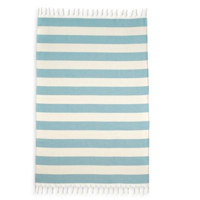 Patara Pestemal Beach Towel in Aqua