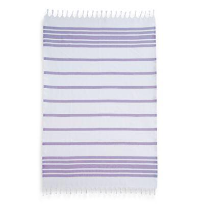 Herringbone Fouta Pestemal Beach Towel in Lilac
