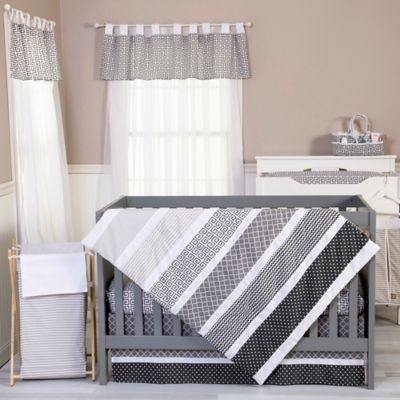 Trend Lab® Ombre Grey 5-Piece Crib Bedding Set