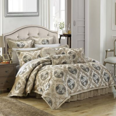 Chic Home Alessandro 9-Piece King Comforter Set in Beige
