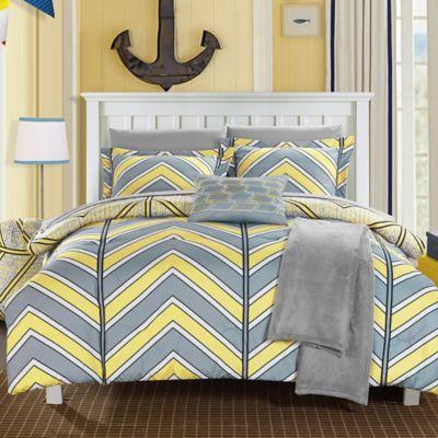 Navy and Yellow Comforter