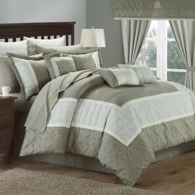 Chic Home Ariane 25-Piece King Comforter Set in Taupe