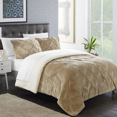 Chic Home Aurelia 3-Piece Queen Comforter Set in Off-White
