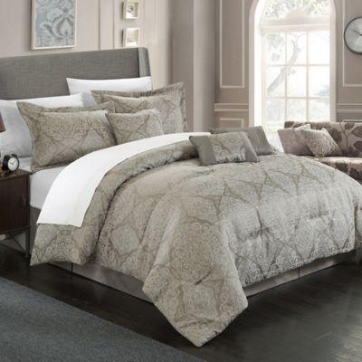 Chic Home Banke 7-Piece Queen Comforter Set in Red