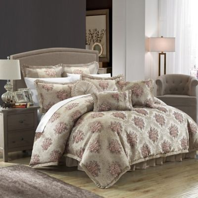 Chic Home Capelli 9-Piece Queen Comforter Set in Taupe