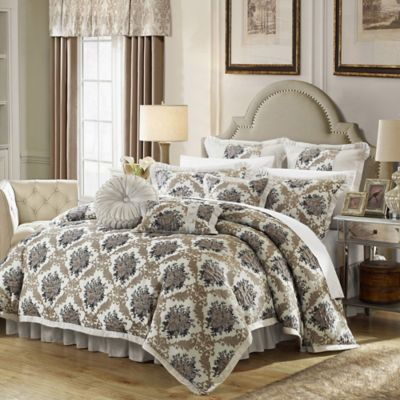 Chic Home Capelli 9-Piece King Comforter Set in Silver