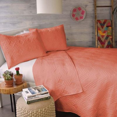 Blissliving® Home Luisa Queen Coverlet Set in Orange